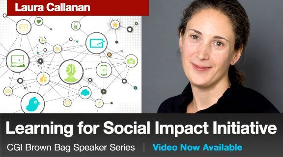 Laura Callanan: Learning for Social Impact Initiative