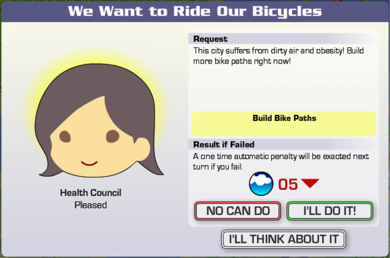 A Request from the Health Council in Energy City
